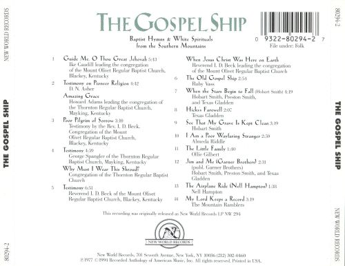The gospel ship baptists hymns amp white spiritual various artists