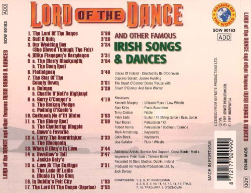 Lord of the Dance and Other Famous Irish Songs & Dances