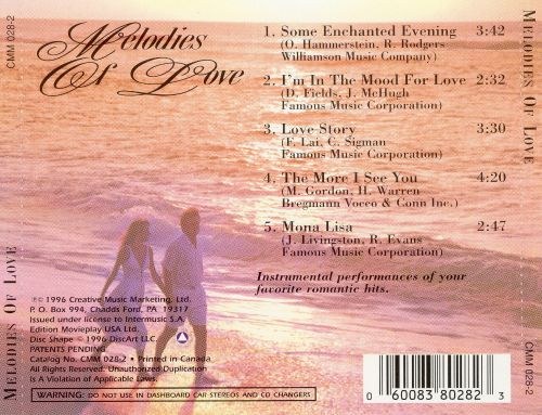 Melodies of Love [2 CD/1 DVD]