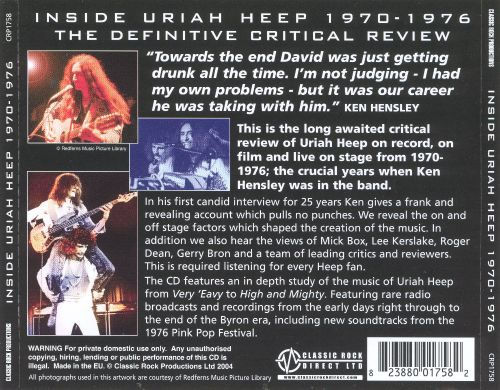 Inside Uriah Heep: The Hensley Years 1970-1976