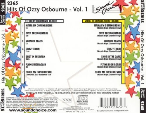 Hits of Ozzy Osbourne, Vol. 1