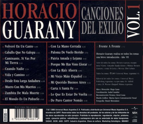 Canciones del Mexico, Vol. 1