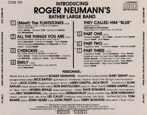 Introducing Roger Neumann's Rather Large Band