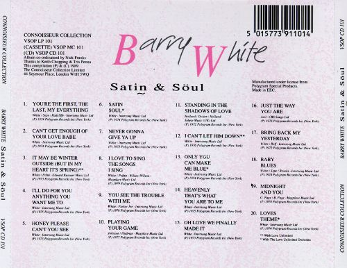 Satin & Soul, Vol. 1: Best of Barry White