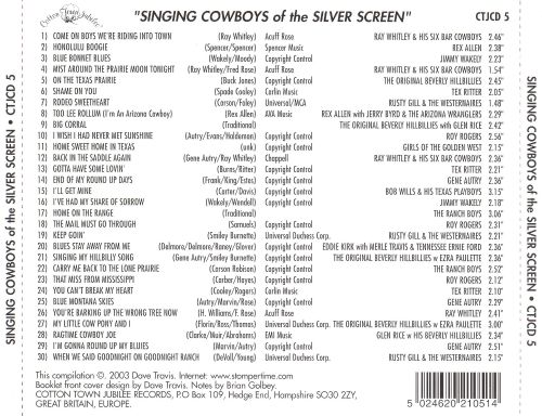 Singing Cowboys Of The Silver Screen