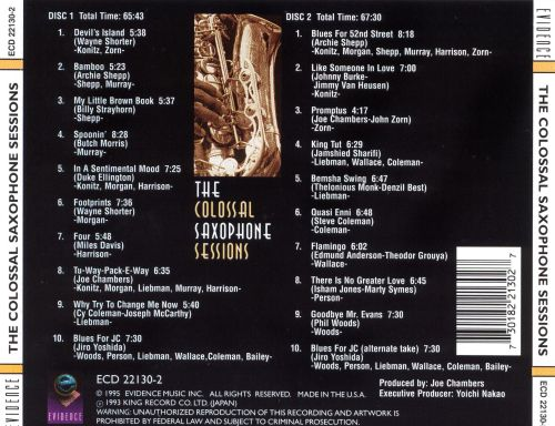 The Colossal Saxophone Session