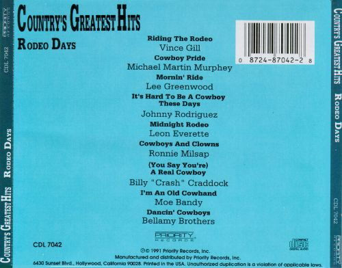 Country's Greatest Hits, Vol. 12: Rodeo Days