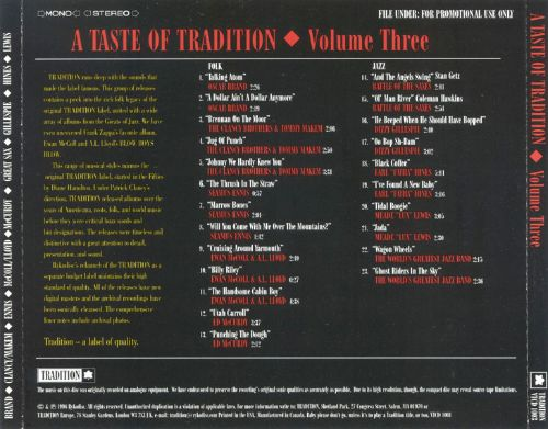A Taste of Tradition, Vol. 3