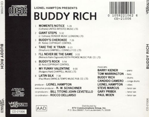 Lionel Hampton Presents Buddy Rich
