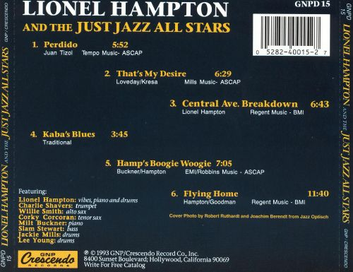 Lionel Hampton with the Just Jazz All Stars