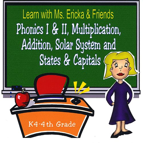 Learn with Ms. Ericka & Friends: Phonics I & II, Multiplication, Addition, Solar System