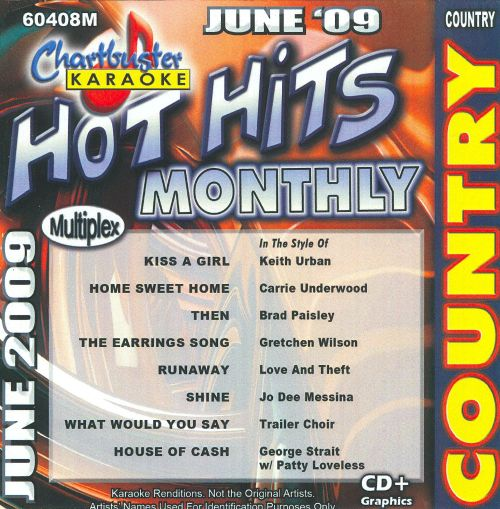 Chartbuster Karaoke: Hot Hits Monthly, Country June 2009