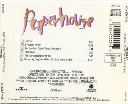 Paperhouse [Original Soundtrack Recording]