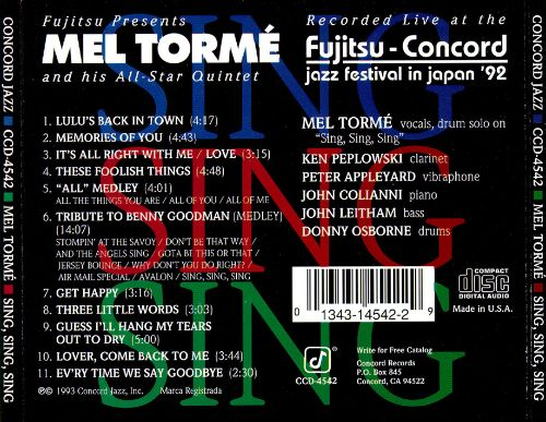 Sing, Sing, Sing: Live at the Fujitsu Festival 1992