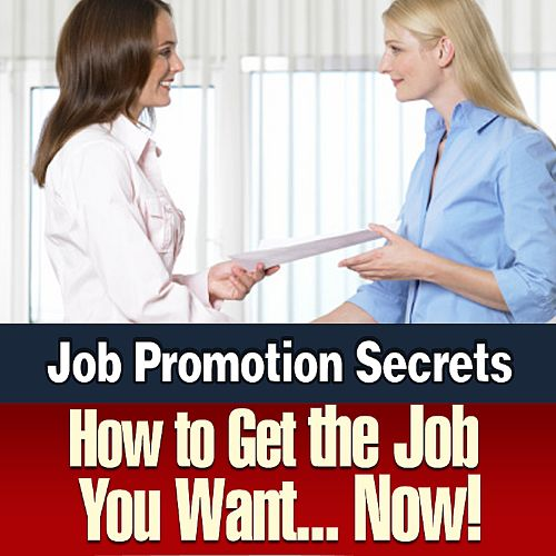How to Get the Job You Want... Now!