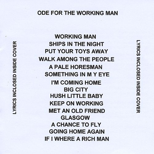 Ode for the Working Man