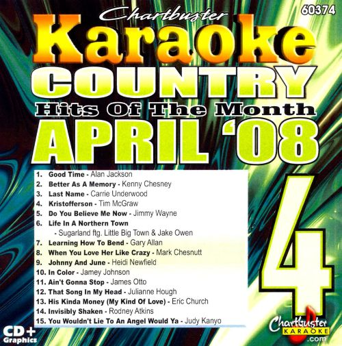 Karaoke: April 2008 Country Hits [Chartbuster]