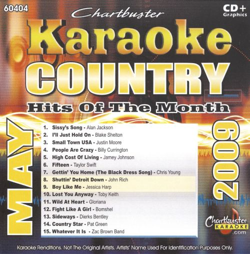 Karaoke: Country Hits of the Month - May 2009
