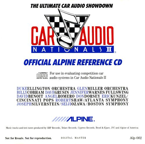 Official Alpine Reference Disc Car Audio Nationals II