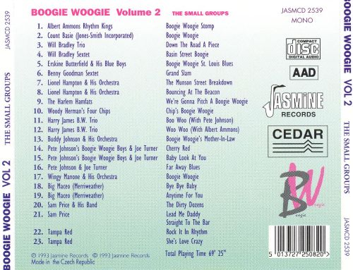 Boogie Woogie, Vol. 2: The Small Groups