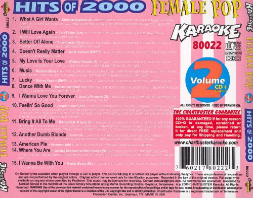 Chartbuster Karaoke: Female Pop, Vol. 2 Hits of 2000