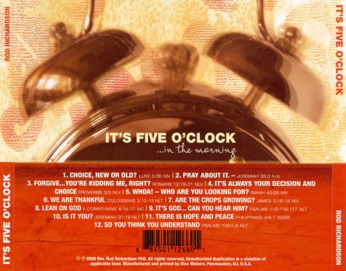 It's Five O'Clock...in the Morning