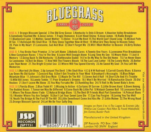 Bluegrass Early Cuts 1931-1953: Classic Recordings Remastered [Box Set]
