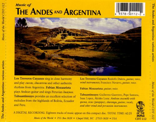 Music from the Andes and Argentina
