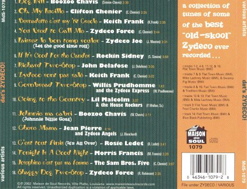 Dat's Zydeco: The Best Old-Skool Zydeco