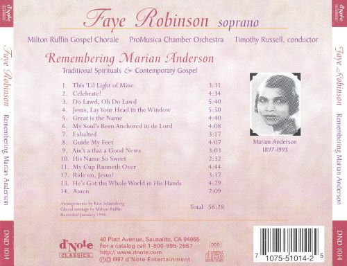Remembering Marion Anderson