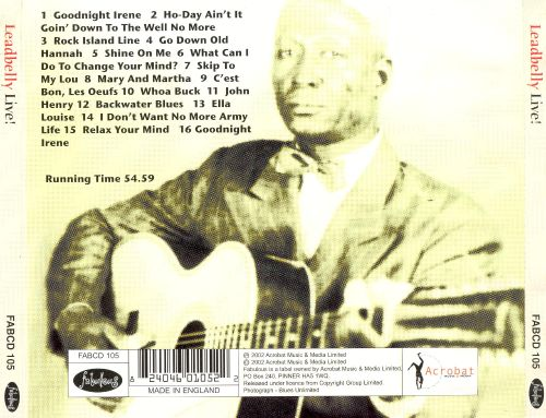 Leadbelly Live [Fabulous]