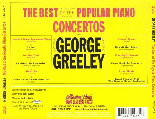 The Best of the Popular Piano Concertos