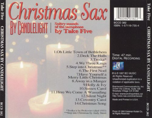 Christmas Sax by Candlelight