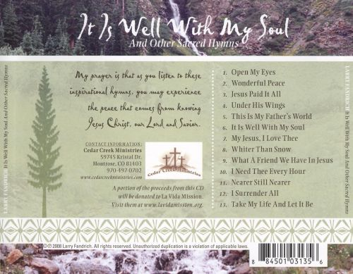It Is Well with My Soul and Other Sacred Hymns
