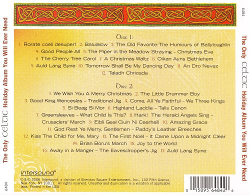 Only Celtic Holiday Album You Will Ever Need