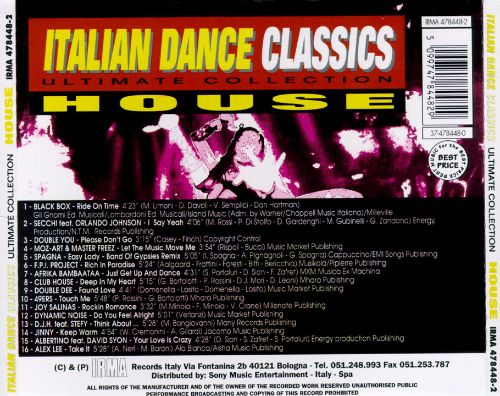 Italian dance classics house various artists songs for Italian house music