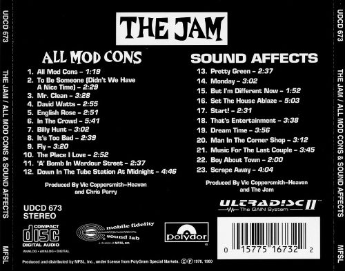 All Mod Cons/Sound Affects