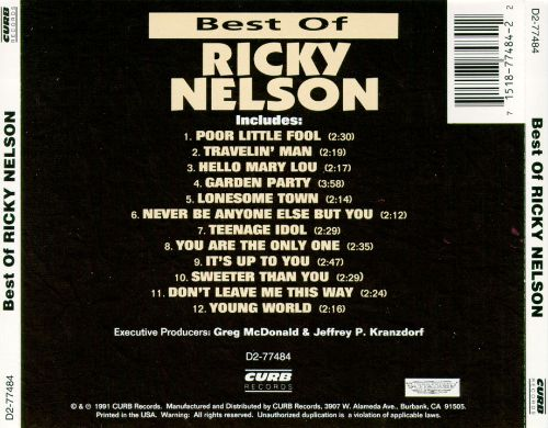 Best of Ricky Nelson [Curb]