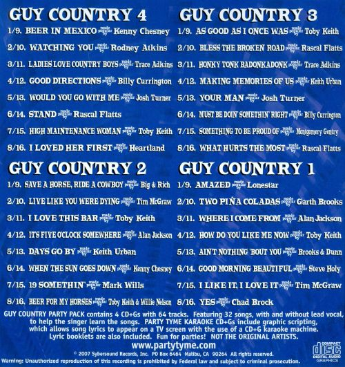Party Tyme Karaoke: Guy Country Party Pack
