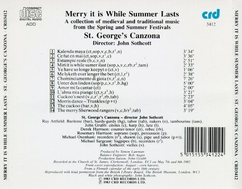 Merry it is While Summer Lasts: A Collection of Medieval and Traditional Music