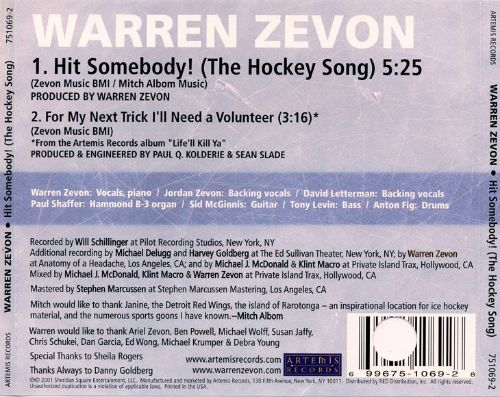 Hit Somebody (The Hockey Song)