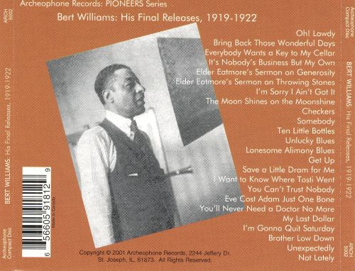 His Final Releases 1919-1922