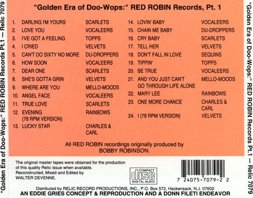 The Golden Era of Doo-Wops: Red Robin Records, Pt. 1