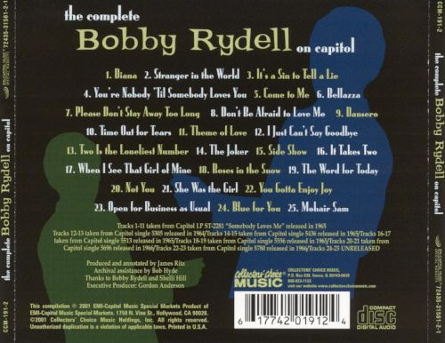 The Complete Bobby Rydell on Capitol