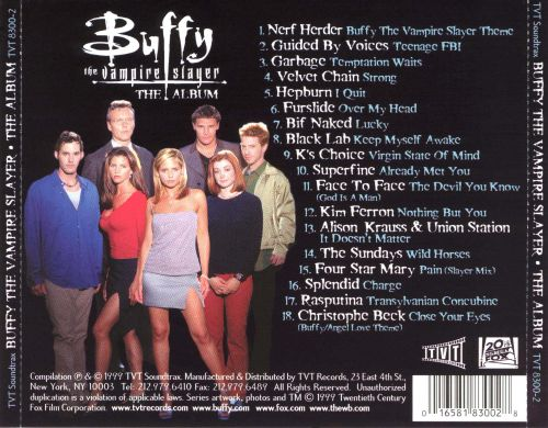 buffy the vampire slayer the album original tv