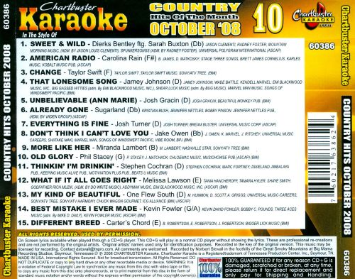 Country Hits of November 2008