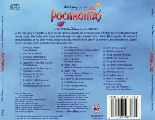 pocahontas  original motion picture soundtrack