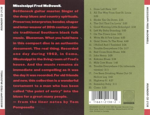 Mississippi Fred McDowell [Rounder]