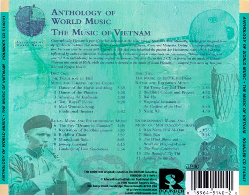 Anthology of World Music: The Music of Vietnam