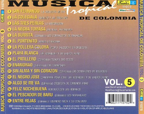 Musica Tropical de Colombia, Vol. 5 [Miami]